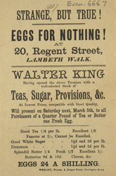 Advert for Walter King, grocer 6667